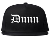 Dunn North Carolina NC Old English Mens Snapback Hat Black