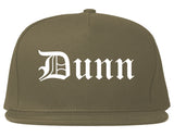 Dunn North Carolina NC Old English Mens Snapback Hat Grey