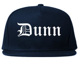 Dunn North Carolina NC Old English Mens Snapback Hat Navy Blue