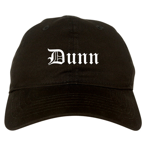 Dunn North Carolina NC Old English Mens Dad Hat Baseball Cap Black