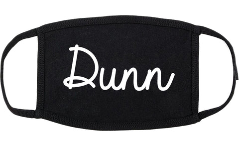 Dunn North Carolina NC Script Cotton Face Mask Black