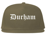 Durham North Carolina NC Old English Mens Snapback Hat Grey