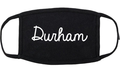Durham North Carolina NC Script Cotton Face Mask Black