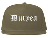 Duryea Pennsylvania PA Old English Mens Snapback Hat Grey