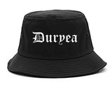 Duryea Pennsylvania PA Old English Mens Bucket Hat Black
