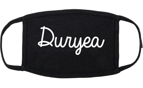 Duryea Pennsylvania PA Script Cotton Face Mask Black