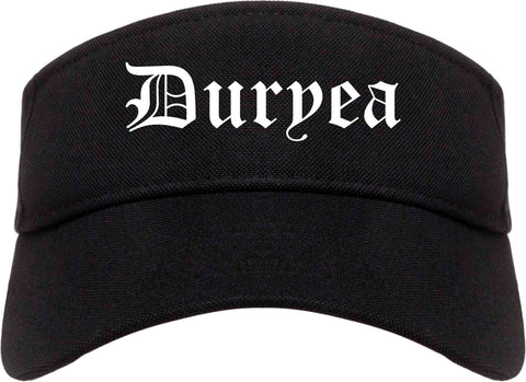 Duryea Pennsylvania PA Old English Mens Visor Cap Hat Black