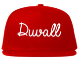Duvall Washington WA Script Mens Snapback Hat Red