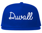 Duvall Washington WA Script Mens Snapback Hat Royal Blue