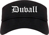 Duvall Washington WA Old English Mens Visor Cap Hat Black