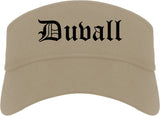 Duvall Washington WA Old English Mens Visor Cap Hat Khaki