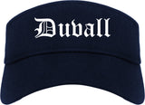 Duvall Washington WA Old English Mens Visor Cap Hat Navy Blue