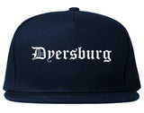 Dyersburg Tennessee TN Old English Mens Snapback Hat Navy Blue