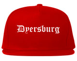 Dyersburg Tennessee TN Old English Mens Snapback Hat Red