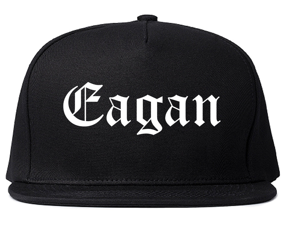 Eagan Minnesota MN Old English Mens Snapback Hat Black