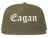 Eagan Minnesota MN Old English Mens Snapback Hat Grey