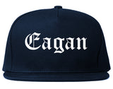 Eagan Minnesota MN Old English Mens Snapback Hat Navy Blue