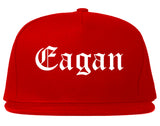 Eagan Minnesota MN Old English Mens Snapback Hat Red