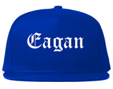 Eagan Minnesota MN Old English Mens Snapback Hat Royal Blue