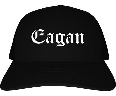 Eagan Minnesota MN Old English Mens Trucker Hat Cap Black