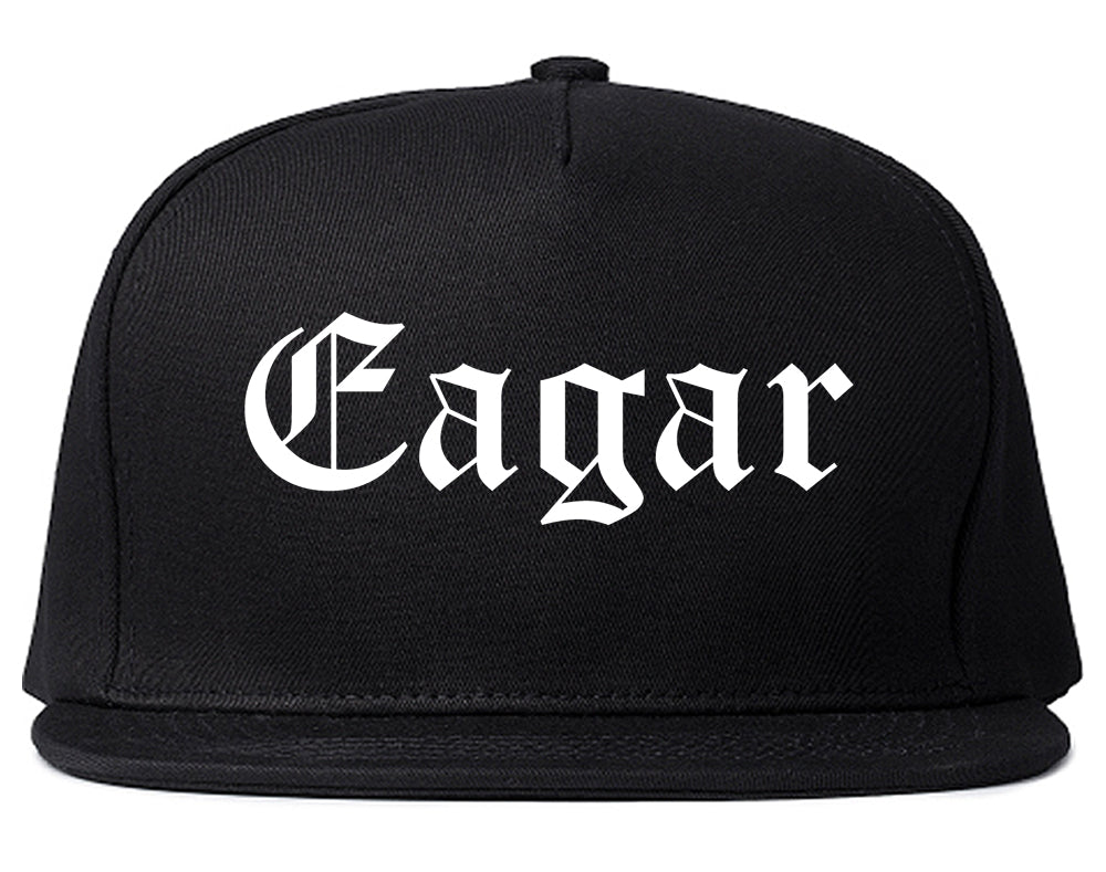 Eagar Arizona AZ Old English Mens Snapback Hat Black