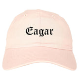 Eagar Arizona AZ Old English Mens Dad Hat Baseball Cap Pink
