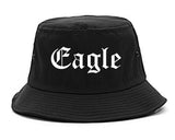 Eagle Colorado CO Old English Mens Bucket Hat Black