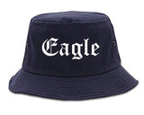 Eagle Colorado CO Old English Mens Bucket Hat Navy Blue