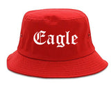 Eagle Colorado CO Old English Mens Bucket Hat Red