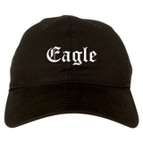 Eagle Colorado CO Old English Mens Dad Hat Baseball Cap Black