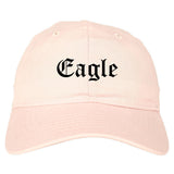 Eagle Colorado CO Old English Mens Dad Hat Baseball Cap Pink