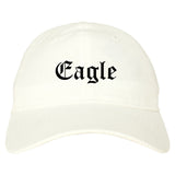 Eagle Colorado CO Old English Mens Dad Hat Baseball Cap White