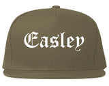 Easley South Carolina SC Old English Mens Snapback Hat Grey
