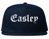 Easley South Carolina SC Old English Mens Snapback Hat Navy Blue