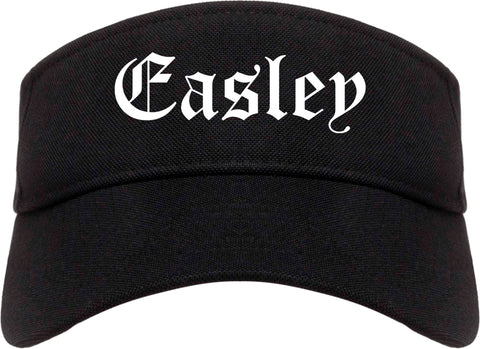 Easley South Carolina SC Old English Mens Visor Cap Hat Black