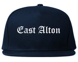 East Alton Illinois IL Old English Mens Snapback Hat Navy Blue