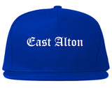 East Alton Illinois IL Old English Mens Snapback Hat Royal Blue