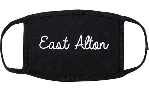 East Alton Illinois IL Script Cotton Face Mask Black