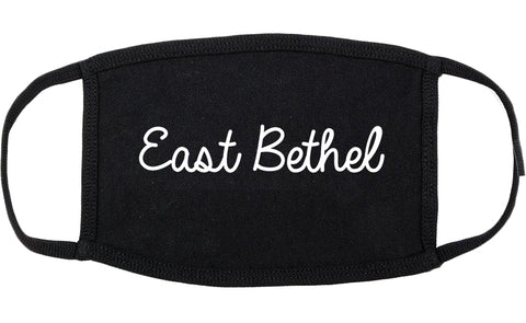 East Bethel Minnesota MN Script Cotton Face Mask Black