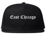 East Chicago Indiana IN Old English Mens Snapback Hat Black