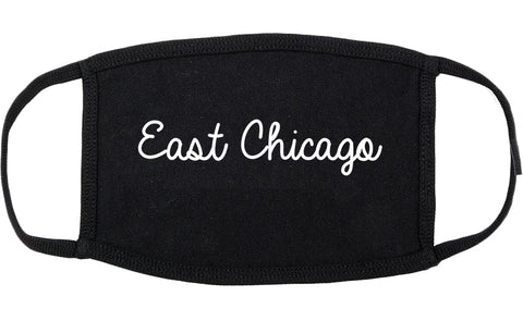 East Chicago Indiana IN Script Cotton Face Mask Black