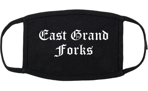 East Grand Forks Minnesota MN Old English Cotton Face Mask Black
