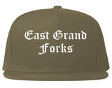 East Grand Forks Minnesota MN Old English Mens Snapback Hat Grey