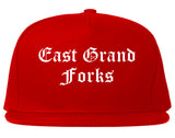 East Grand Forks Minnesota MN Old English Mens Snapback Hat Red