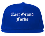 East Grand Forks Minnesota MN Old English Mens Snapback Hat Royal Blue