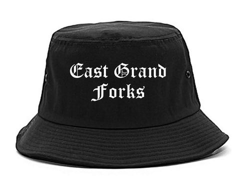 East Grand Forks Minnesota MN Old English Mens Bucket Hat Black