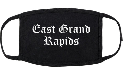 East Grand Rapids Michigan MI Old English Cotton Face Mask Black