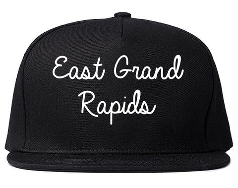 East Grand Rapids Michigan MI Script Mens Snapback Hat Black