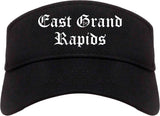 East Grand Rapids Michigan MI Old English Mens Visor Cap Hat Black