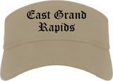 East Grand Rapids Michigan MI Old English Mens Visor Cap Hat Khaki